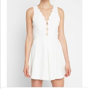 NWOT White Scalloped Cut Out Dress